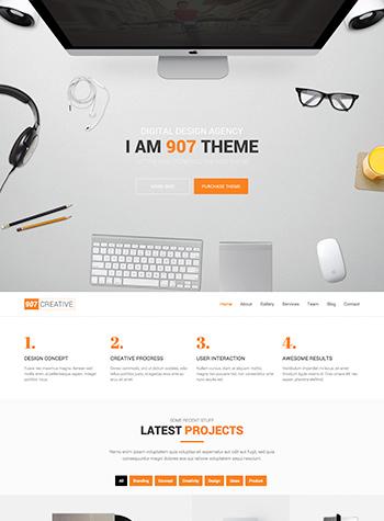 907 Demos – OnePage – Multi OnePage Parallax Theme